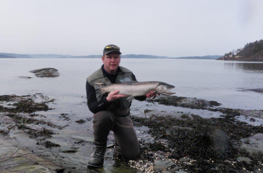 Flott fangst – vekta stoppet på 4,2 kg!